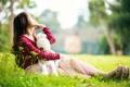 Картинка лето, настроение, игрушка, девочка