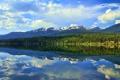 Картинка пейзаж, лес, озеро, природа, hdr, горы, отражение