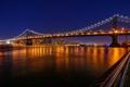 Картинка небо, ночь, мост, огни