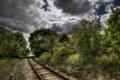 Картинка деревья, пейзаж, железная дорога
