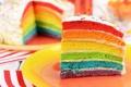 Картинка Birthday, rainbow, colorful, День Рождения, cake, Happy, торт