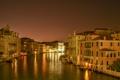 Картинка небо, ночь, огни, дома, Италия, Венеция, канал