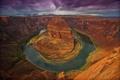 Картинка небо, облака, река, Колорадо, каньон, Аризона, США