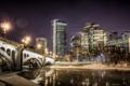 Картинка ночь, город, Calgary