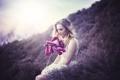 Картинка цветок, девушка, настроение