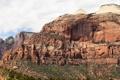 Картинка небо, деревья, пейзаж, горы, Zion National Park, Utah, национальный парк Зион