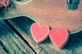Картинка romantic, heart, love, сердце, гитара, vintage