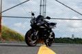 Картинка чёрный, ворота, мотоцикл, black, yamaha, bike, ямаха