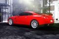 Картинка GTR, red, Nissan, wheels, vossen, rearside