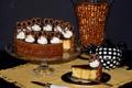 Картинка торт, крем, кусок, заварник