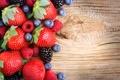 Картинка ягоды, черника, клубника, fresh, sweet, berries
