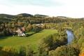Картинка лес, река, фото, город, Германия, дома, природа