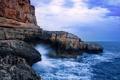 Картинка море, волны, небо, вода, капли, брызги, природа