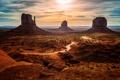 Картинка пейзаж, горы, пустыня, аллея монументов