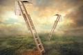 Картинка поле, небо, лестница