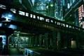Картинка дорога, ночь, мост, город, метро, Токио, Akimov Mikhail