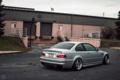 Картинка бмв, купе, BMW, серая, E46, stance works