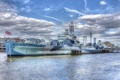 Картинка London, River Thames, HMS Belfast, museum ship