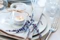 Картинка цветы, свечи, лаванда
