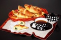 Картинка чай, выпечка, круассаны, croissant, tea, рогалики, baking
