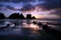 Картинка песок, лето, острова, деревья, закат, скала, парк