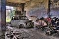 Картинка машины, гараж, лом