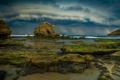 Картинка море, гроза, волны, облака, камень, бассейн, слизь