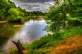 Картинка зелень, деревья, озеро, парк, Англия, Nostell
