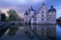 Картинка дом, пруд, замок