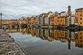 Картинка небо, мост, река, дома, Италия, Флоренция, Понте Веккьо