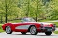 Картинка авто, Chevrolet, Corvette, шевроле, Fuel Injection, ретро, 1961