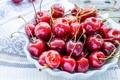 Картинка капли, красный, ягоды, вишни