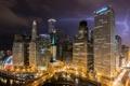 Картинка небо, ночь, огни, молния, США, город Чикаго