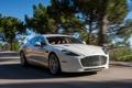 Картинка машина, деревья, Aston Martin, скорость, суперкар, Rapide S