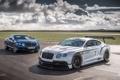 Картинка ГТ3, облака, небо, гоночный, передок, Bentley, Бентли