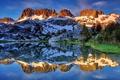 Картинка лес, Пейзаж, природа, горы, отражение, озеро