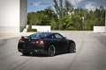 Картинка чёрный, Nissan, GT-R, black, ниссан, задняя часть, 360 three sixty forged