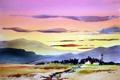 Картинка пейзаж, картина, акварель