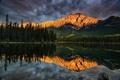 Картинка горы, озеро, отражение, Канада, Alberta, Canada, Jasper National Park