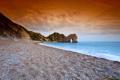 Картинка море, пляж, небо, скала, арка, оранж