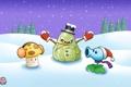 Картинка зима, гриб, снег, Plants vs Zombies