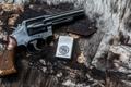 Картинка оружие, фон, зажигалка, ствол, револьвер, рукоять, Smith & Wesson