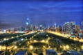 Картинка ночь, Чикаго, Иллинойс, Chicago, Illinois, night, usa