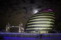 Картинка ночь, мост, огни, дом, Англия, Лондон