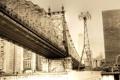 Картинка город, здания, Нью-Йорк, Манхэттен, Manhattan, New York City, мост Куинсборо