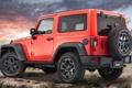 Картинка красный, Джип, вид сзади, Wrangler, Ренглер, Jeep, Moab
