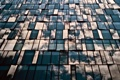 Картинка стекло, облака, отражения, город, здание, окна, Япония