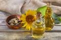 Картинка цветок, масло, подсолнух, оливки