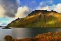 Картинка Небо, Природа, Облака, Фото, Дорога, Осень, Озеро