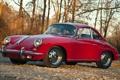 Картинка деревья, Porsche, порше, Coupe, передок, 1964, красивая машина